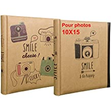 Lot de 2 albums photos Smile à pochettes 10x15 pour 200 photos