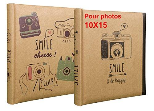 CPC Lot de 2 Albums Photos Smile à Pochettes 10x15 pour 200 Photos