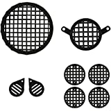 Autofy Checkered Plastic Black Grill for Royal Enfield Bullet Classic 350 & 500 (Black) - Set of 8