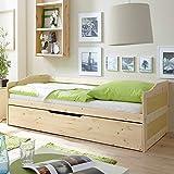 Pharao24 Massivholzbett mit Bettkasten Gästebett