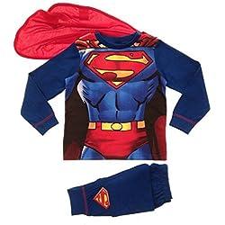 Pijama con diseño De Superman Talla 8 años, diseño De la Bandera del Reino Unido