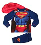 Kinder Jungen Kostüm Play Kostüme / Schlafanzug Pyjama Pj Pjs Set Buzz Lightyear Superman Spiderman Batman Party Größe EU 1-8 Jahre - Superman - Superanzug mit Cape, 122-128