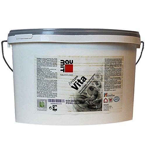 Preisvergleich Produktbild BauMit Vita, Innenwandfarbe, für sensible Wohnbereiche, weiß, 5 L