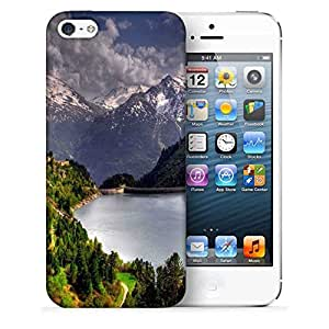 Snoogg Abstract Nature Printed Protective Phone Back Case Cover For Apple Iphone 5 / 5S