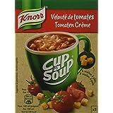 Knorr Soupe Instantanée Cup a Soup Velouté de Tomates 54g 3 Sachets - Lot de 6