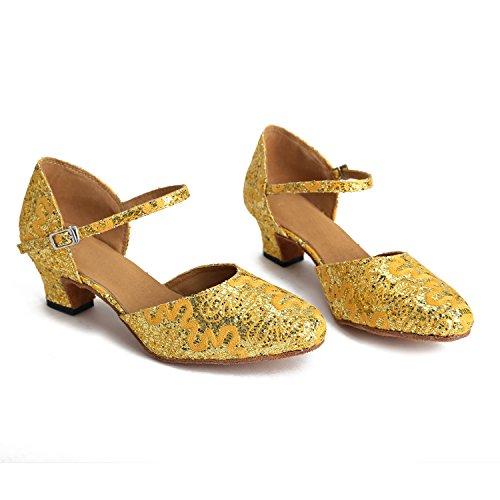 Minitoo - Ballroom donna Yellow/Gold-5cm Heel