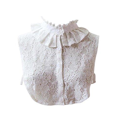 TUDUZ Damen Frauen Vintage Choker Halskette abnehmbare Revers Shirt gefälschte falsche Kragen (E)