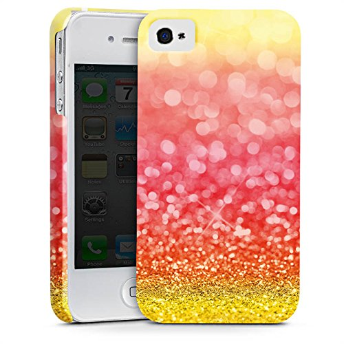 Apple iPhone X Silikon Hülle Case Schutzhülle Spanien Flagge Glitzer Premium Case glänzend