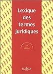 Termes juridiques, Lexique, 13e �dition