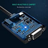 HDMI to VGA Adapter, UGREEN 1080P Active HDMI to VGA Converter with Audio Output and Micro USB Charging for Raspberry Pi, Chromebook, PC, Laptop, Ultra book (Black)