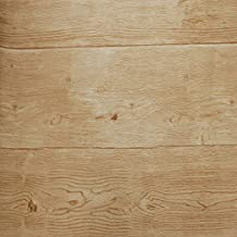 DEI QI Papel pintado de madera gris del vintage 3d Rollo Vinilo rústico con textura Marrón