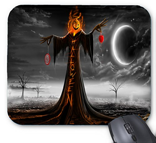 Hässlicher Halloween-Kürbis-Mann-Mauspad 9,84 x 11,8 Zoll