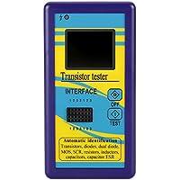 KKmoon Multifuncional Transistor Tester Medidor Meter LCR Probador con Pantalla Color TFT Diodo Tiristor Capacitancia Resistencia Inductancia MOSFET ESR 128*160