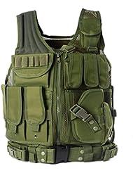 YAKEDA Taktische CS Feld Weste Outdoor Ultraleichte Atmungsaktive Kampf Trainings Weste Einstellbar Für Erwachsene 600D Verschlüsselung Polyester-VT-1063