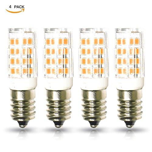 lampaous E14LED Leuchtmittel Entspricht 40W, 5W 400LM Kleine Edison-Schraube Warm Weiß Dunstabzugshaube LED Leuchtmittel, 360° Abstrahlwinkel, nicht dimmbar, energiesparend SES Leuchtmittel, 4Stück