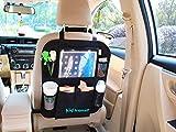 Kids Goods Best Deals - Kid Transit Back Seat Car Organiser for Kids with Tablet Holder. Clear Pocket Perfect for 9.7