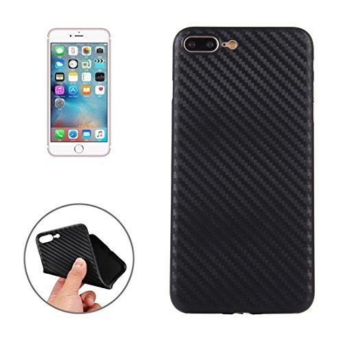 Carbon Fiber Texture PP Schutzmaßnahmen zurück Fall für iPhone 7 Plus by diebelleu ( Color : Black ) Black
