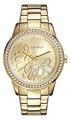 Esprit-Damen-Armbanduhr-Datum-klassisch-Quarz-Edelstahl