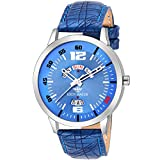 #8: Eddy Hager Blue Day and Date Men's Watch EH-133-BL
