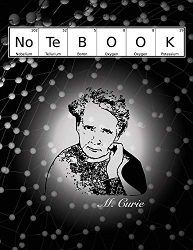 M. Curie Notebook: Hexagonal Graph Paper - Organic Chemistry Student Lab Notebook