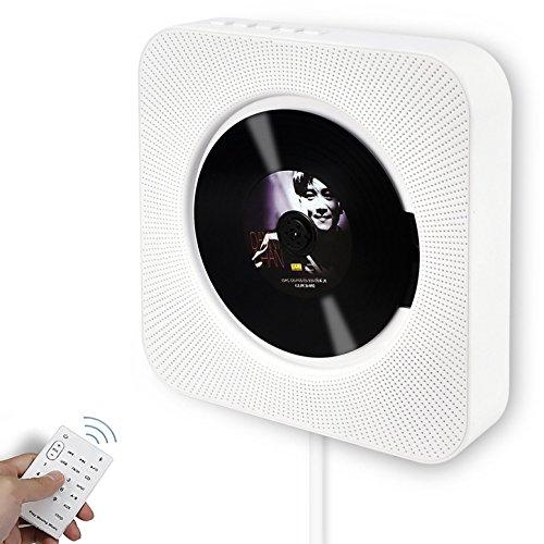 Portable CD-Player, Alice Dreams an der Wand montierbare drahtlose CD-Musik-Player Bluetooth-Lautsprecher MP3-Player mit Fernbedienung und MP3 3.5MM Kopfhörer Audio-Buchse AUX-Eingang / - Radio Cd-player Multi