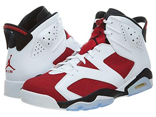 Nike Air Jordan 6 Retro, Chaussures de Sport Homme, Noir, For Men white