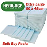 Heritage Pet Products Large Puppy Training Pads Wee Wee Toilet Trainer 60 x 45cm (150 Pack)