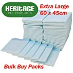 Heritage Pet Products Large Puppy Training Pads Wee Wee Toilet Trainer 60 x 45cm (100 Pack)