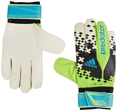 Adidas Torwarthandschuhe Predator Training Torwart Handschuhe Schwarz/Grün, Größe:7 (Torwart Handschuh Größe 7)