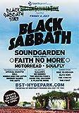 Generic Black Sabbath London Hyde Park 2014 Foto Poster