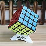 YongJun YJ GuanSu 4x4x4 Cubo mágico Puzzle cubo 4x4x4 velocidad velocidad de Puzzle Toy Color negro + uno personalizado trípode