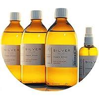PureSilverH2O 1600ml kolloidales Silber (3X 500ml/15ppm) + Spray(100ml/15ppm) Reinheit & Qualität seit 2012 preisvergleich bei billige-tabletten.eu