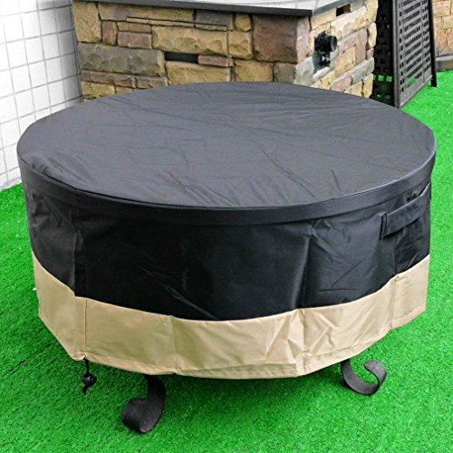 stanbroil Full Deckung rund Fire Pit Cover/Tisch, schwarz, 127cm