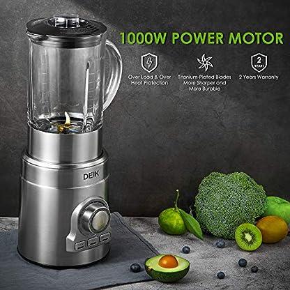 Deik-Mixer-Standmixer-Zerkleinerer-mit-18L-Glas-Smoothie-Mixer-mit-1000W-starker-Motor-Edelstahlgehuse-24000-Umin-ohne-BPA-15-Geschwindigkeiten-und-3-Programme