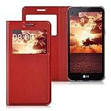 kwmobile Flip Case Hülle für LG X Screen mit Sichtfenster