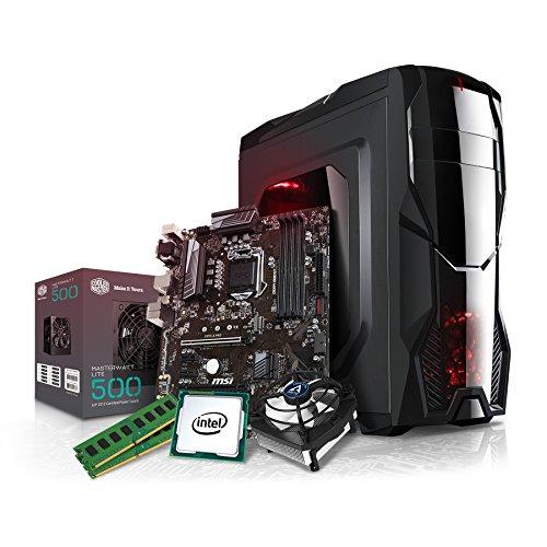 Kiebel Aufrüst Gamer PC (v8) - Intel Core i5-8600K 6-Kerner (6x3.6GHz | Turbo 4.3GHz) | 16GB DDR4-2400 MHz | OHNE Grafikkarte, OHNE DVD-Laufwerk | MSI Z370-A Pro | Aufrüst Gaming - Surround-system-basis