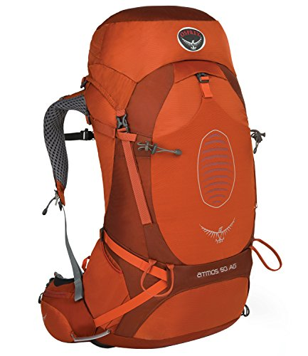 Osprey - Atmos AG 50, color cinnabar red, talla 50 Liters-L