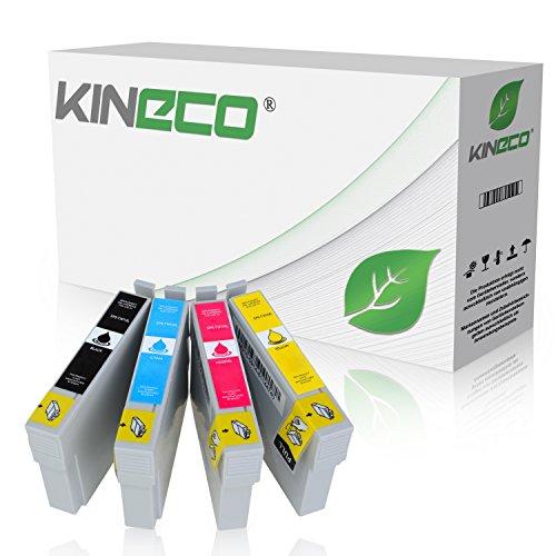 4 Tintenpatronen Kompatibel zu Epson T1811 T1812 T1813 T1814 für Epson Expression XP-322 Expression XP-325 Expression XP-215, Expression XP-305 315 405WH 415 - Schwarz 18ml, Color je 14ml