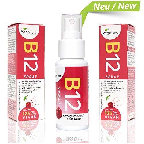 Aus B12-vitamine Der Natur (Vitamin B12 Spray | NEU: Sprühen statt Tabletten schlucken | Kirschgeschmack | nur 1 mal sprühen pro Tag | 250 µg Methylcobalamin pro Sprühstoß | Hohe Bioverfügbarkeit | 4 Monatsvorrat | Vegan | Vegavero: from Nature - with Passion - for You!)