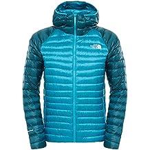 The North Face M Quince Pro Hooded Jacket - Chaqueta para hombre, color azul/verde, talla M