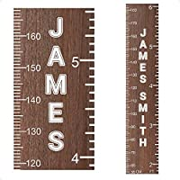Wooden Ruler Height Chart Personalised Family Wall Sticker Gifts Growth Decal Kids | Wooden Growth Chart for Height Measure | StickersMagic