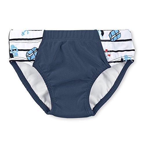 Sterntaler costume da bagno per bambino, protezione uv 50+, età: 3-4 anni, taglia: 98/104, blu scuro/bianco