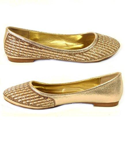SKO'S , Mocassins pour femme Gold (3010-135)