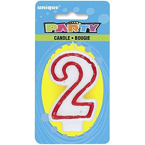 Vela de cumpleaños con el número