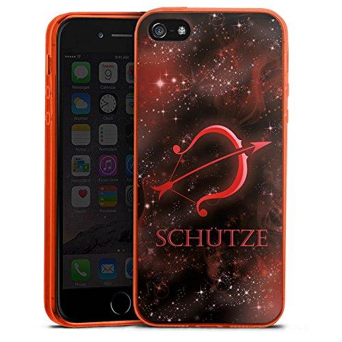 one 5s Slim Case transparent neon orange Silikon Hülle Schutzhülle Sternzeichen Bogen Pfeil ()