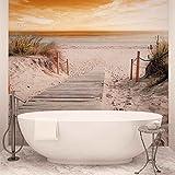 Weg Strand Sand Natur - Forwall - Fototapete - Tapete - Fotomural - Mural Wandbild - (2020WM) - XL - 208cm x 146cm - VLIES (EasyInstall) - 2 Pieces