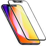 iPhone X Panzerglas, vau Panzerglasfolie PRO Echt-Glas deckt gesamte iPhoneX Front ab ( Display-Schutzfolie schwarz )