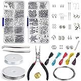 Queta Kit Creazione Gioielli,Kit di Accessori per Gioielli Fatti a Mano, Forniture di Fabbricazione di Gioielli per Fabbricaz