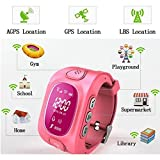 KOBWA Smart Watch für Kinder, 0,96 Zoll GPS Tracker(Wecker Stellen, Telefonieren, GPS Orten, Fern Reden, Schritte Zählen Usw.) für IPhone, Samsung - 4