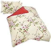 """Catherine Lansfield """"Home"""" Parure housse de couette 2 personnes Canterbury avec motif floral - multicolore - 200 x 200cm"""
